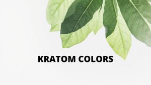 kratom color
